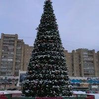 "Photo taken at Площадь перед ЛДС ""Кристалл"" by K. K. on 1/17/2013"
