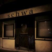 Photo taken at Schwa by Brandon H. on 9/26/2012
