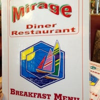 Photo taken at Mirage Diner by Daniel on 10/2/2012