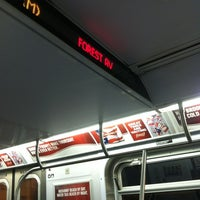 Photo taken at MTA Subway - M Train by Robert R. on 9/27/2012