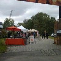 Photo taken at Socrates Park Greenmarket by Lenny Z. on 9/29/2012