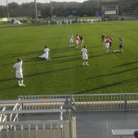 Photo taken at Dick Dlesk Soccer Stadium by Shane on 9/15/2012