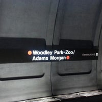 Photo taken at Woodley Park-Zoo/Adams Morgan Metro Station by Evan on 9/25/2012