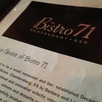 Photo taken at Bistro 71 by Edwin on 3/14/2013