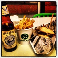 Photo taken at Wahlburgers by Christopher on 1/25/2013