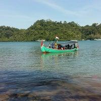 Photo taken at Pantai Sendang Biru by Tyas S. on 7/8/2016
