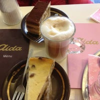 Photo taken at Aida Café-Konditorei by Nathalie on 3/10/2013