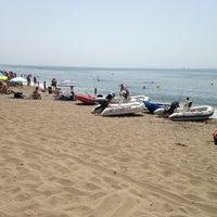 Photo taken at Playa Luna Beach by Наталья on 8/4/2013