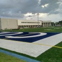 Photo taken at Christopher Columbus High School by Raul R. on 8/1/2016