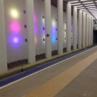 Photo taken at Metrostation Rotterdam Centraal by Oma v. on 11/18/2012