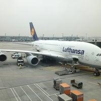 Photo taken at Lufthansa Flight LH 440 by Dirk V. on 4/4/2013