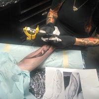 Photo taken at Graceland Hair & Tattoo by Amanda S. on 5/28/2014