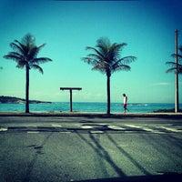 Photo taken at Praia de Itaparica by Johnathan B. on 4/30/2013