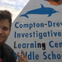 Photo taken at Compton Drew ILC Middle School by Patrick M. on 10/7/2015
