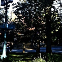 Photo taken at Flagpole Green - Forest Hills Gardens by Patricia D. on 9/18/2011