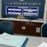 Photo taken at Balai Polis Sri Gading by Nurul Qistina A. on 8/22/2016
