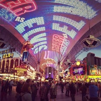 Photo taken at Fremont Street Experience by James O. on 4/10/2013