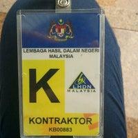 Photo taken at Lembaga Hasil Dalam Negeri Malaysia by Krystle P. on 1/17/2013