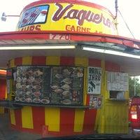 Photo taken at Vaqueros Carne Asada Taco Shop by Jae on 5/24/2013