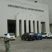 Photo taken at Universitas Al Azhar Indonesia by Cut A. on 2/5/2013