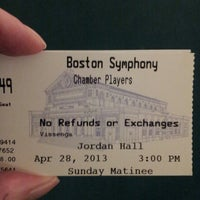 Photo taken at New England Conservatory's Jordan Hall by NowVoyager on 4/28/2013
