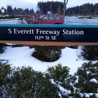 Photo taken at S. Everett Park & Ride by Kaelisa V. on 2/10/2014