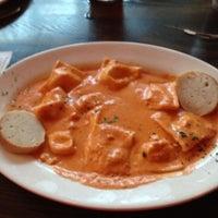 Photo taken at Bavaro's Pizza Napoletana & Pastaria by Delaney on 10/24/2012