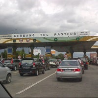 Photo taken at Gerbang Tol Pasteur by Ana N. on 1/5/2013