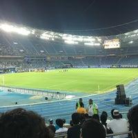 Photo taken at Jaber AlAhmad International Stadium by mohammad a. on 9/23/2016