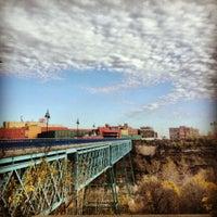 Photo taken at High Falls by Liz K. on 11/11/2012