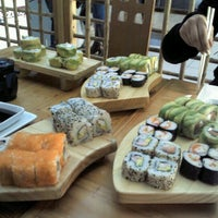 Photo taken at Sushihana by Sandra G. on 7/11/2013