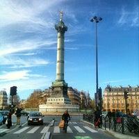 Photo taken at Place de la Bastille by Andy D. T. on 11/25/2012
