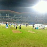 Photo taken at Jawaharlal Nehru Stadium by Antony Dalwin D. on 2/6/2013