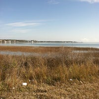 Photo taken at Harkers Island Draw Bridge by Lisa on 1/14/2013