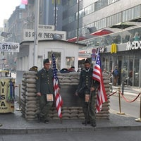 Photo taken at Checkpoint Charlie by Alex on 10/27/2012