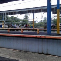 Photo taken at Stasiun Depok Baru by Azizah Z. on 1/14/2013