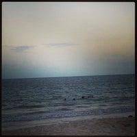 Photo taken at Praia Azul by Ana C. on 1/17/2013