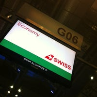 Photo taken at Swiss (LX) Check-In Area by Mondaylady on 11/9/2012