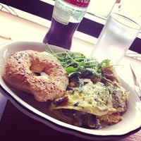 Photo taken at Beauty's Bagel Shop by Toccara B. on 3/31/2013
