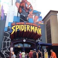 Photo taken at The Amazing Adventures of Spider-Man by Carlos David on 9/18/2012