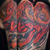 Photo taken at Remington Tattoo by Terry on 9/21/2013