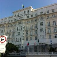 Photo taken at Belmond Copacabana Palace by Daniel C. on 6/20/2013
