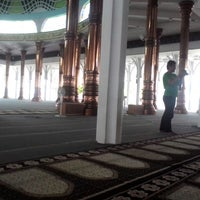 Photo taken at Masjid Agung Al-Falah by Rahmat D. on 5/4/2014