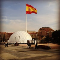 Photo taken at Plaza de Colón by Alexander T. on 1/10/2013