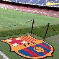 Photo taken at Camp Nou by Latifa .. on 6/8/2013