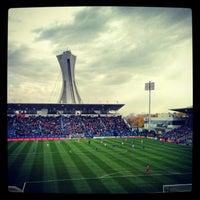 Photo taken at Stade Saputo by Jackson C. on 10/27/2012