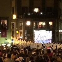 Photo taken at Piazza del Teatro (Piazza Verdi) by Claudia B. on 9/3/2015