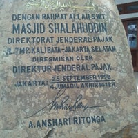 Photo taken at Masjid Shalahuddin Dirjen Pajak by Rizki K. on 3/11/2013