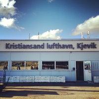 Photo taken at Kristiansand Lufthavn, Kjevik (KRS) by Philip A. on 10/11/2012