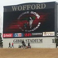 Photo taken at Gibbs Stadium by Monica D. on 12/21/2013